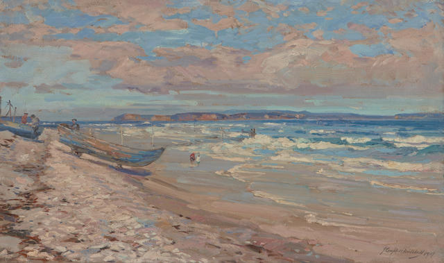 John Campbell Mitchell, RSA (British, 1862-1922) 'North shore Findhorn'