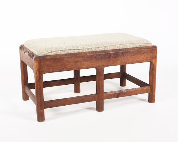 Gordon Russell oak stool