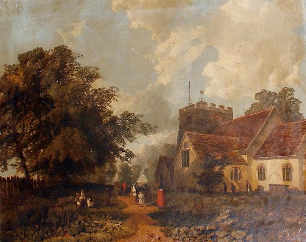 William E. Jones (British, active 1849-1871) Sunday Matins