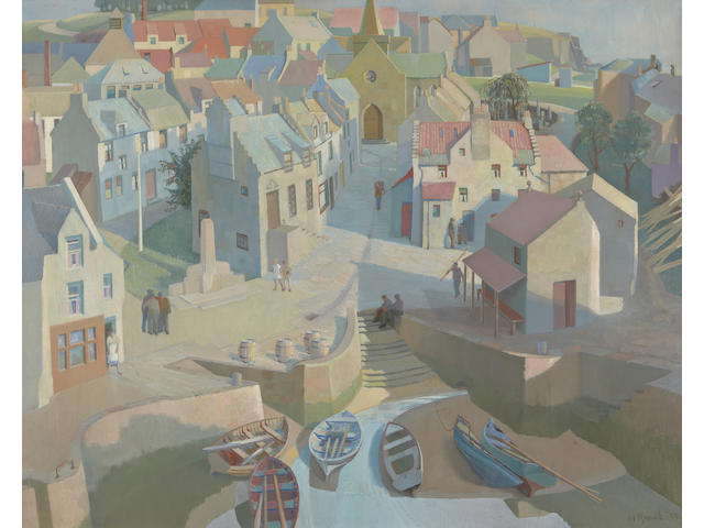 "Alan Ian Ronald, RSW (British, 1899-1967) ""Conception of a Fifeshire Neuk"""