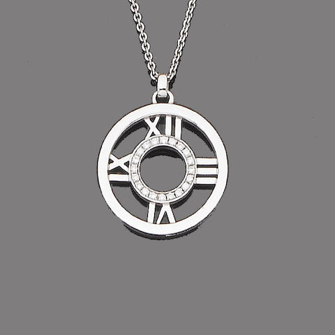 An 'Atlas' pendant necklace, by Tiffany & Co.