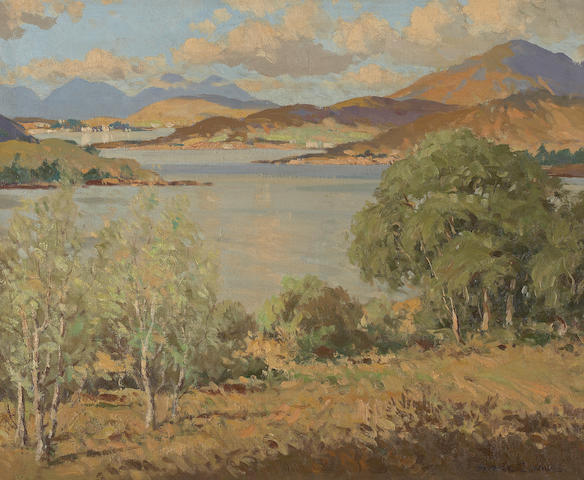 Maurice Canning Wilks R.U.A., A.R.H.A. (Irish, 1910-1984) 'Spring Loch Duich Ross and Cromarty'