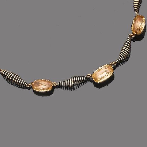 A topaz necklace