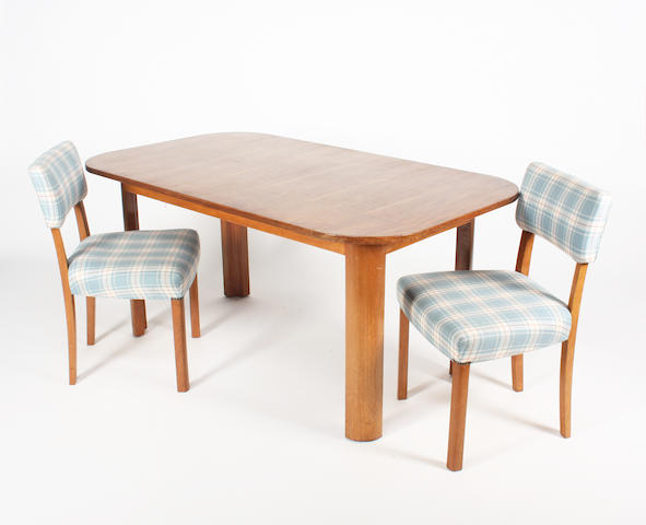A Gordon Russell 'Welbeck' mahogany dining table and a set of six standard chairs, designed by R.D. Russell, circa 1934
