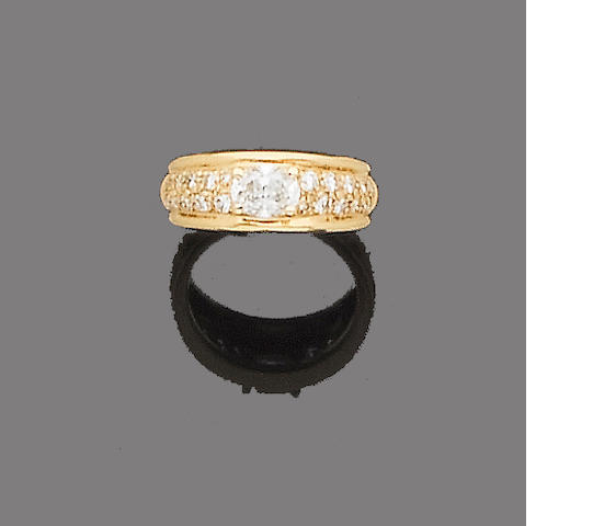 A diamond dress ring, by Boucheron