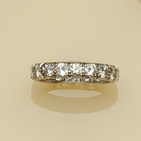 A diamond full eternity ring