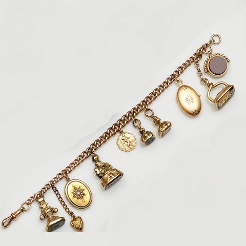 A curb-link charm bracelet