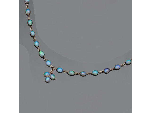 An early 20th century opal necklace