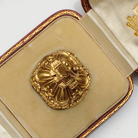 A 19th century gold fob seal