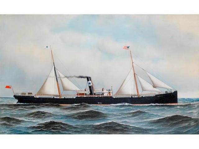 (n/a) Antonio Nicolo Gasparo  Jacobsen (American, 1850-1921) S.S. Jersey City 22 x 36 in. (56 x 91.5 cm.)