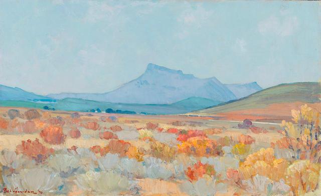 Pieter Gerhardus van Heerden (South African, 1917-1991) The Klein Karoo, near Worcester unframed