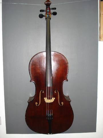 A French Cello,  Medio Fino School,  circa 1900 (3)