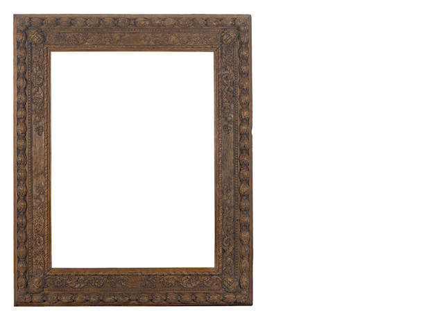 A French 17th Century carved oak frame