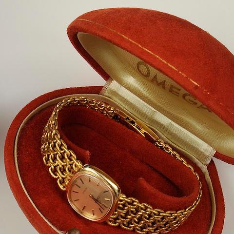 Omega: An 18ct gold lady's de Ville wristwatch, circa 1970s