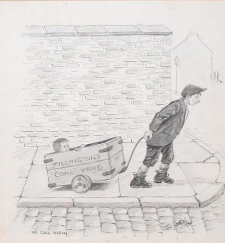 Tom Dodson (British, 1910-1991) 'The Coal Wagon',