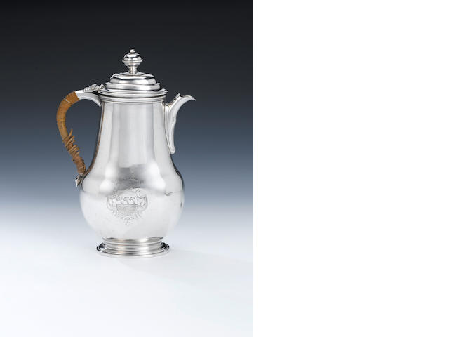 An early 18th Dutch silver chocolate pot, by Bernt Wolff Nijmegen 1714 - 15,