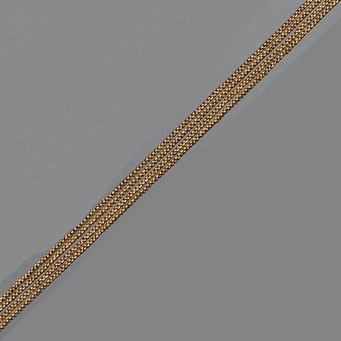 A 19th century fine belcher-link chain