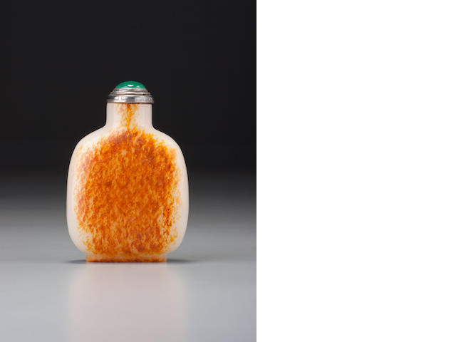 A nephrite pebble-material snuff bottle 1720-1850