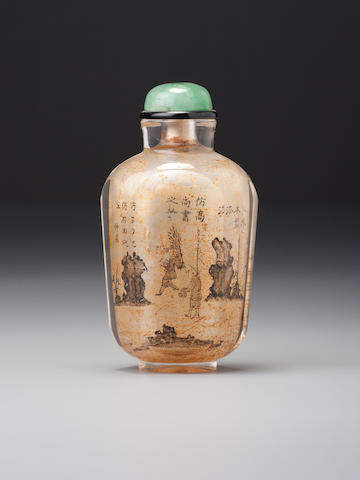 An inside-painted rock-crystal snuff bottle Yiru jushi, attributed to Beijing, 1805 (the bottle 1760-1805)