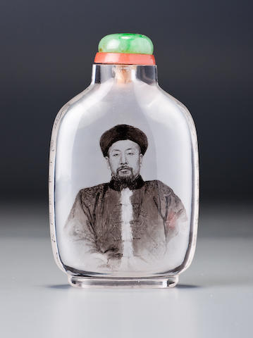 An inside-painted rock-crystal snuff bottle Ma Shaoxuan, dated 1907 (the bottle 1740-1907)