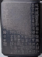 An inscribed jet snuff bottle Lianbai, dated 1862