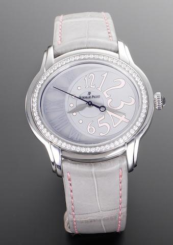 Audemars Piguet. A lady's stainless steel diamond set automatic wristwatch Millenary, Case Reference F88459, Sold June 2009