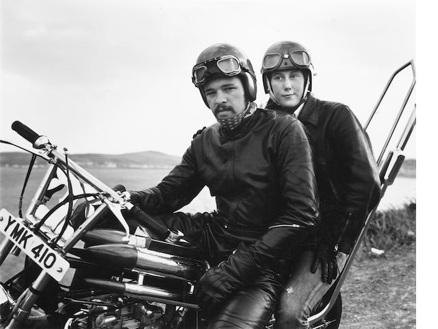 Chris Killip (British, 1946) Motorcyclists, n.d. Paper 30.1 x 25.6cm (11 7/8 x 10 1/8in), image 15.3 x 19cm (6 x 7 1/2in).