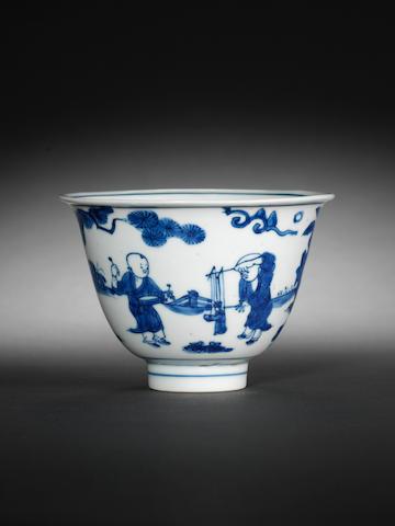 A small blue and white bowl Jiajing/Wanli