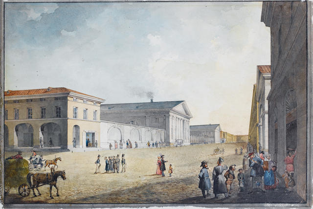 Russian School, 19th century Attributed to Karl Friedrich Sabat (1782-1843) and Samuel Schiflar (1786-1841)<br>