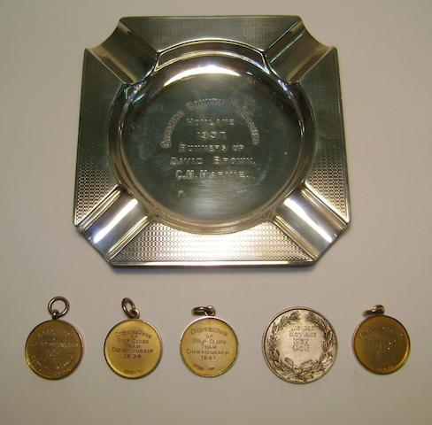Royal Liverpool Golf Club: A 1924 Cheshire Team Championship gold winner's medal