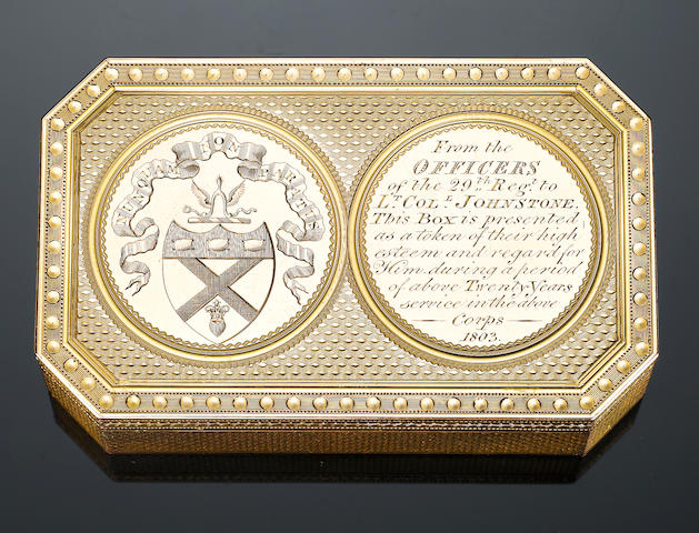 A George III gold box