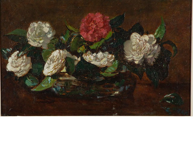 Robert Gwelo Goodman (South African, 1871-1939) Vase of camellias