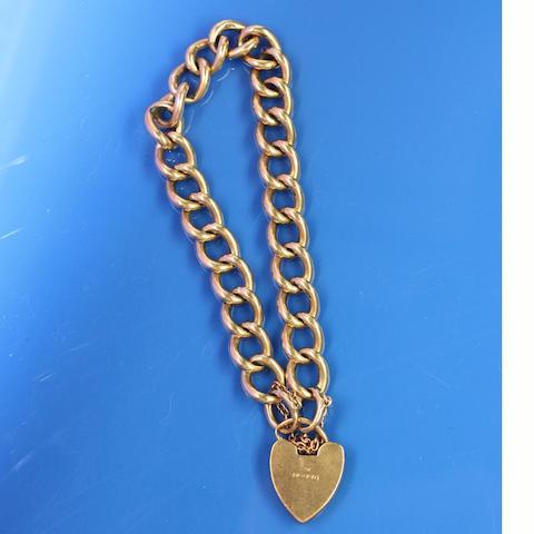 A 9ct gold curb-link bracelet
