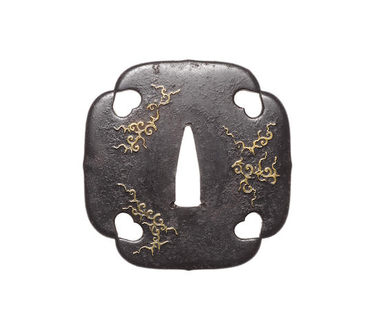 Six inlaid iron tsuba 18th-19th century