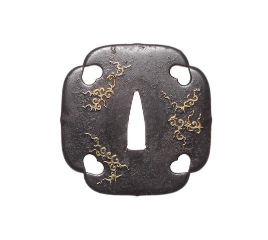 Six inlaid iron tsuba 18th-19th century
