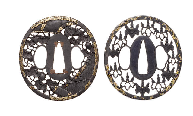Two sukashi tsuba 19th century