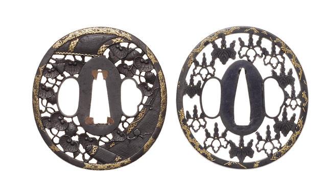 Two sukashi tsuba 19th century