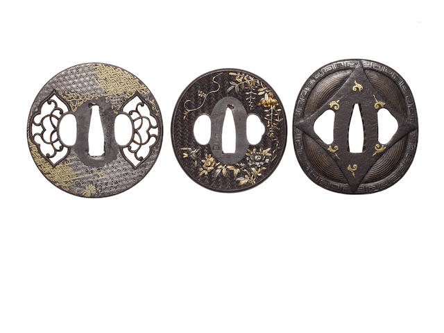 Three tsuba 19th century