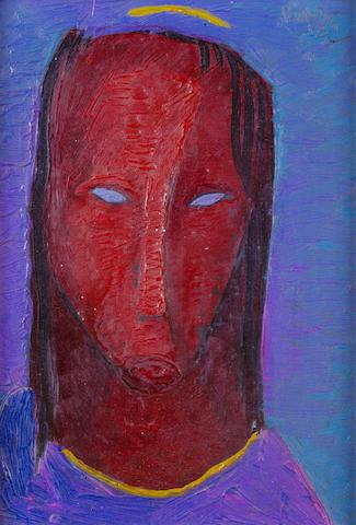 Alexis Preller (South African, 1911-1975) Head study