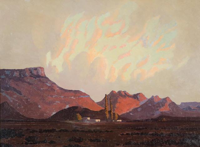 Jacob Hendrik Pierneef (South African, 1886-1957) Karoo landscape