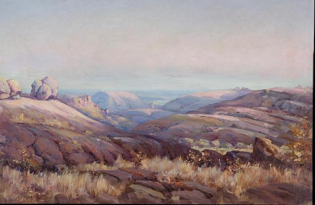 Pieter Hugo Naudé (South African, 1869-1941) Matopos mountains