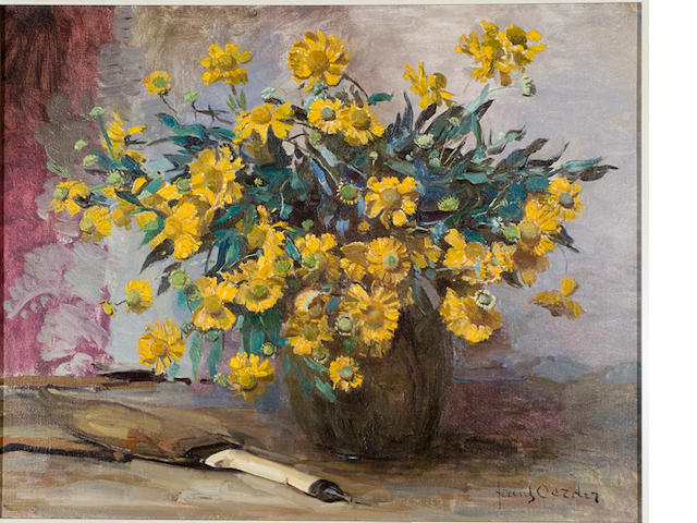 Frans David Oerder (Dutch, 1867-1944) Still life with marigolds