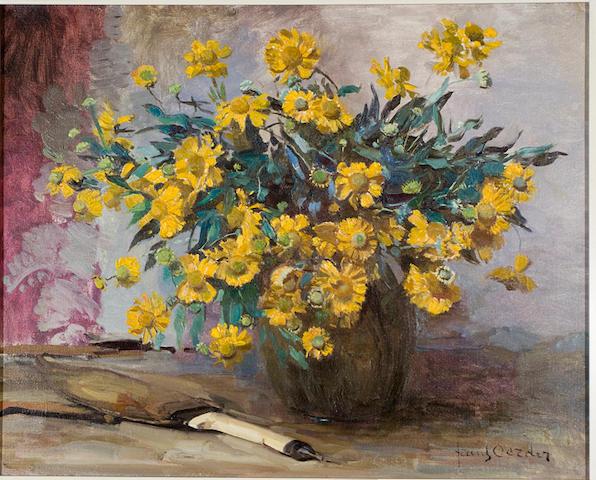 Frans David Oerder (Dutch, 1867-1944) Still life with marigolds