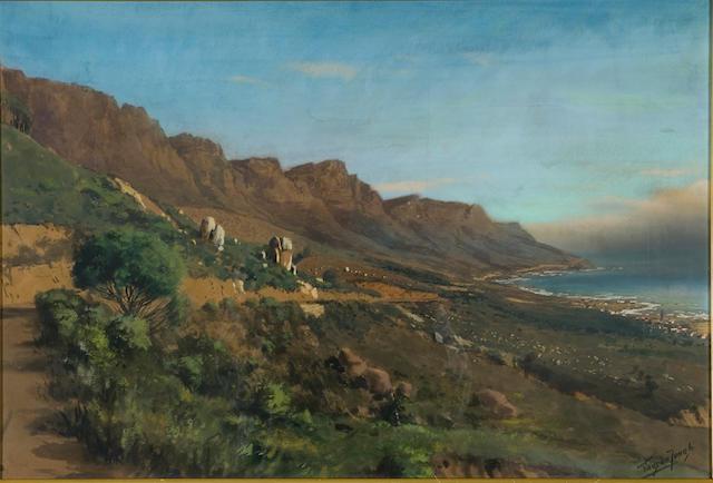 Marthinus (Tinus) Johannes de Jongh (South African, 1885-1942) Twelve Apostles from Bakoven