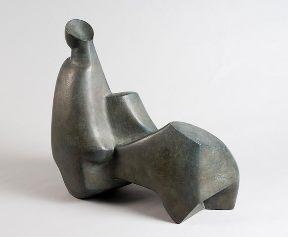 Edoardo Villa (South African, born 1920) Reclining figure 47cm (18 1/2in) high