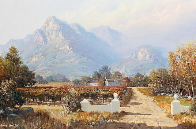 Michael Albertyn (South African, 20th century) Harvest time in the Cape