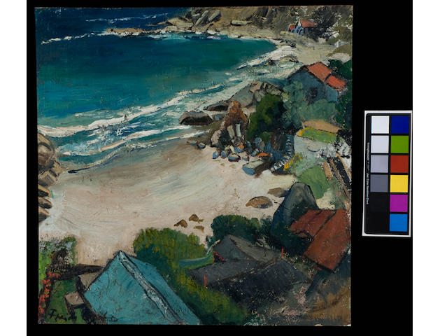 Freida Lock (South African, 1902-1962) Fourth beach, Clifton