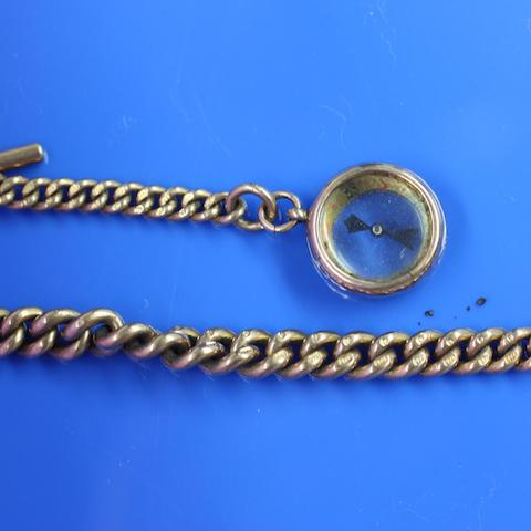 A 9ct gold Albert chain