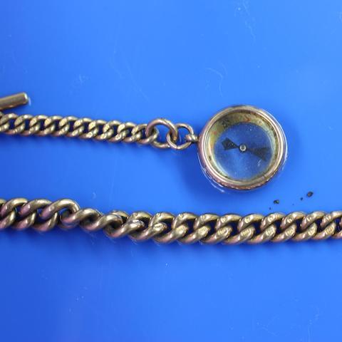 A 9ct gold Albert chain