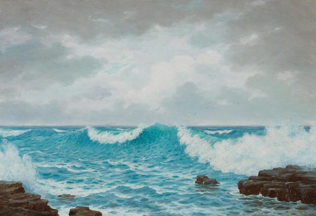 Jan Ernst Abraham Volschenk (South African, 1853-1936) Seascape
